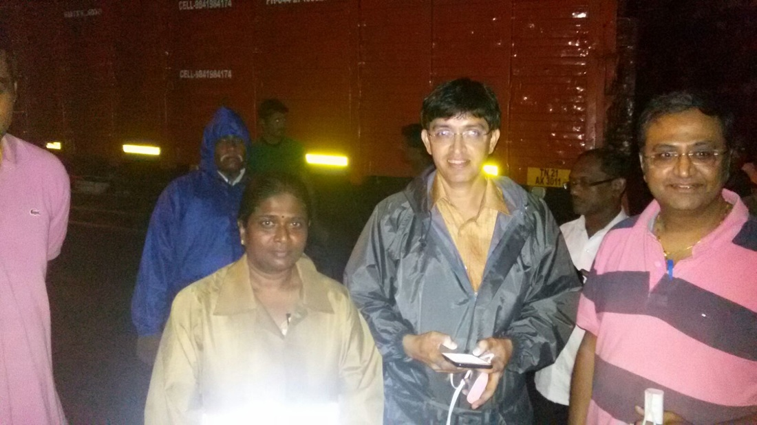 Meenakshi Vijayakumar at Chennai Flood Rescue